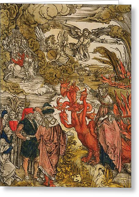 Woodcut Paintings Greeting Cards - Saint John In The Desert Greeting Card by Albrecht Durer or Duerer