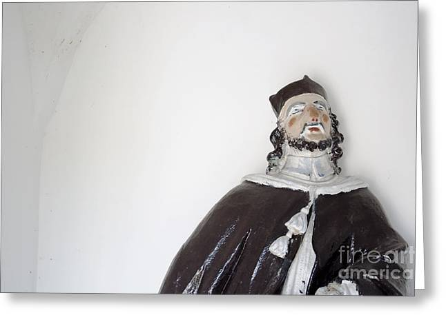 Wooden Sculpture Greeting Cards - Saint John of Nepomuk Greeting Card by Agnieszka Kubica