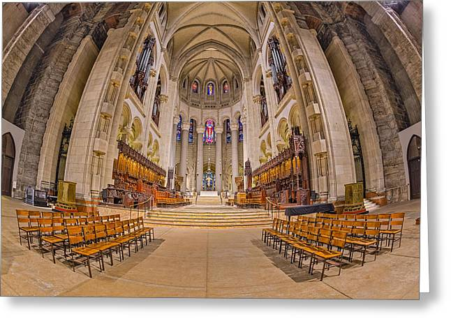 Morningside Heights Greeting Cards - Saint John The Divine Cathedral High Altar  II Greeting Card by Susan Candelario