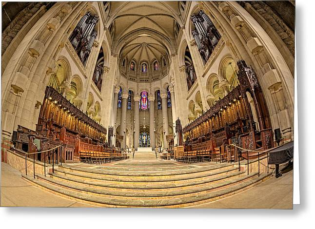 N.y. Greeting Cards - Saint John The Divine Cathedral High Altar  III Greeting Card by Susan Candelario