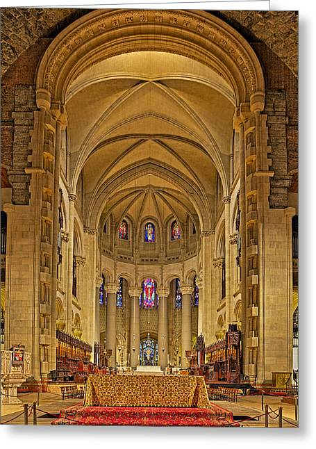 N.y.c. Greeting Cards - Saint John The Divine Cathedral High Altar  Greeting Card by Susan Candelario