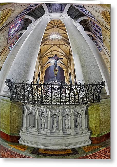 Morningside Heights Greeting Cards - Saint John The Divine Rear Altar View Greeting Card by Susan Candelario