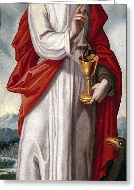John The Evangelist Greeting Cards - Saint John the Evangelist Greeting Card by Francisco Pacheco