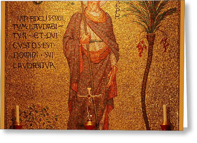 Saint Joseph Digital Greeting Cards - Saint Joseph Altar Greeting Card by Philip Ralley