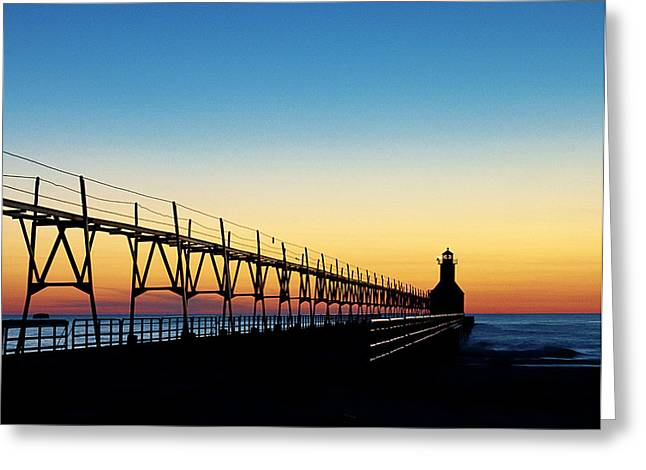 Saint Joseph Greeting Cards - Saint Joseph light sunset Greeting Card by Ward McGinnis