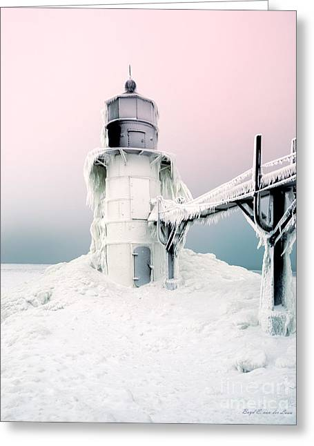 Saint Joseph Greeting Cards - Saint Joseph Lighthouse Greeting Card by Boyd  E Van der Laan