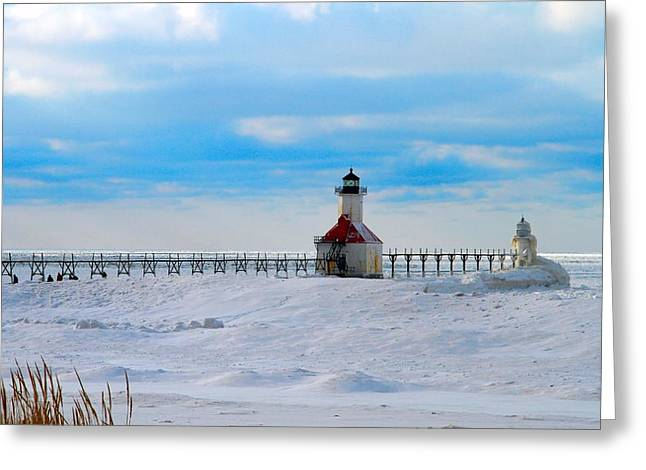 Saint Joseph Greeting Cards - Saint Joseph Lighthouse Greeting Card by Dan Sproul
