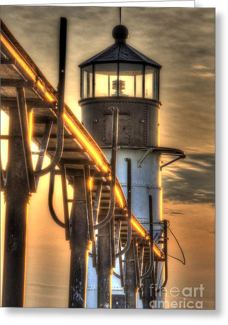 Saint Joseph Lighthouse In Hdr Greeting Card by Twenty Two North Photography