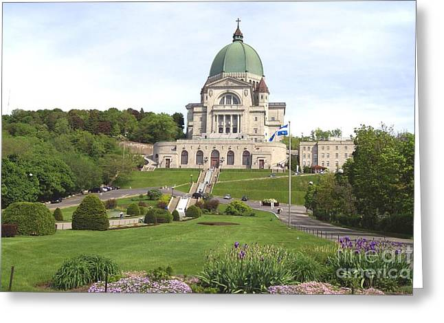 Saint Joseph Greeting Cards - Saint Josephs Oratory in Canada Greeting Card by Saphire Ovadia