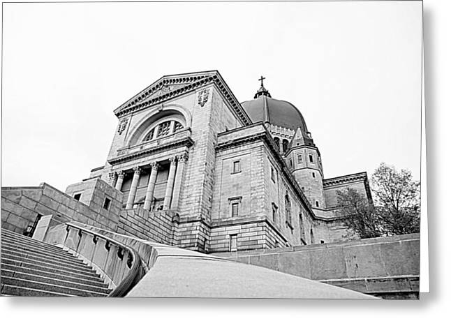 Saint Joseph Greeting Cards - Saint Josephs Oratory Greeting Card by Valentino Visentini