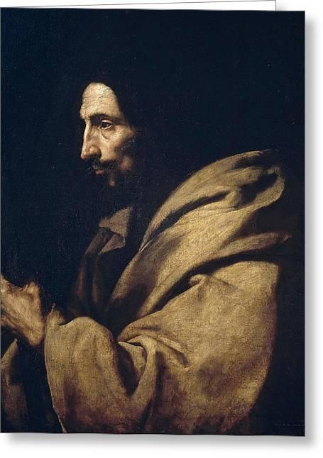 Saint Jude Greeting Cards - Saint Jude Thaddeus Greeting Card by Jusepe de Ribera