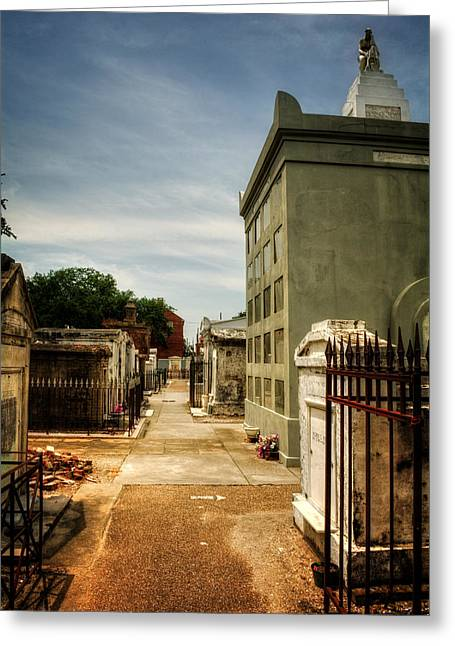 Chrystal Greeting Cards - Saint Louis Cemetery Number 1 Greeting Card by Chrystal Mimbs