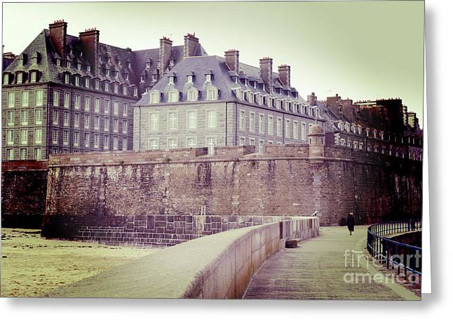 Brittany Greeting Cards - Saint-Malo Brittany France Greeting Card by Colin and Linda McKie