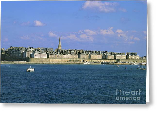 Town Walls Greeting Cards - Saint Malo. Ille et Vilaine. Brittany. Bretagne. France. Europe Greeting Card by Bernard Jaubert