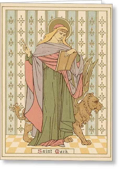 Mark Drawings Greeting Cards - Saint Mark Greeting Card by English School