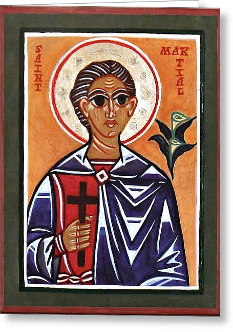 Saint Martial Greeting Card by Marcelle Bartolo-Abela