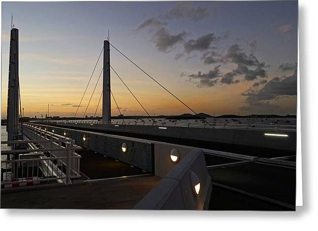 Saint-martin Greeting Cards - Saint Martin Causeway Bridge Greeting Card by Toby McGuire