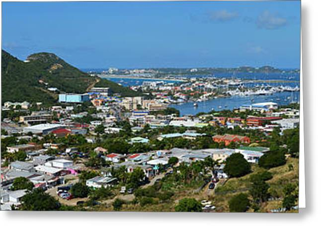Ocean Panorama Greeting Cards - Saint Martin Panorama Greeting Card by Toby McGuire