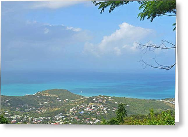 Saint-martin Greeting Cards - Saint Martin Panorama - Looking down on Sint Maarten Greeting Card by Toby McGuire