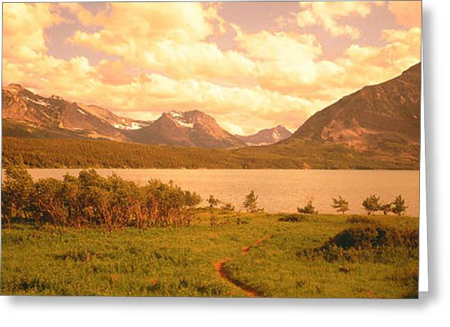 St Marys Greeting Cards - Saint Mary Lake, Montana, Usa Greeting Card by Panoramic Images