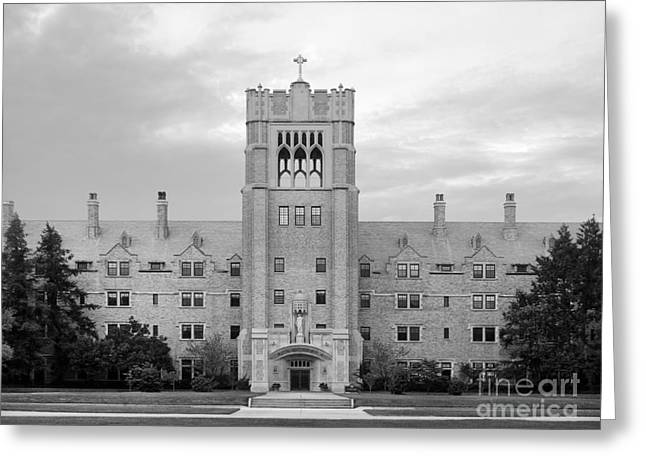 Catholic Art Greeting Cards - Saint Marys College Le Mans Hall Greeting Card by University Icons