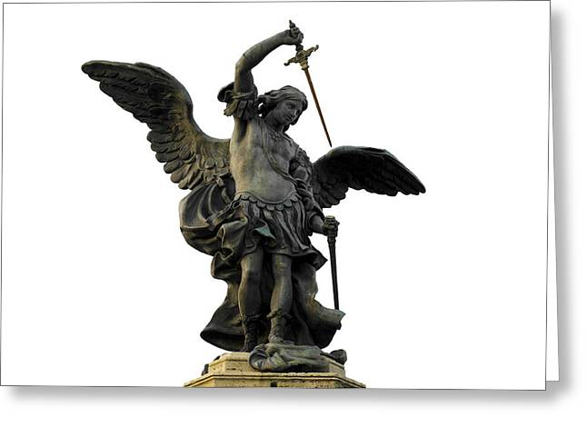 Castel Greeting Cards - Saint Michael Greeting Card by Fabrizio Troiani