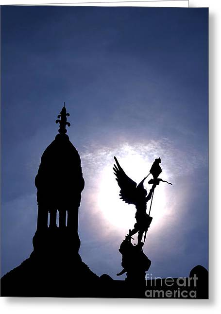 Saint Michael The Archangel  Greeting Card by Olivier Le Queinec
