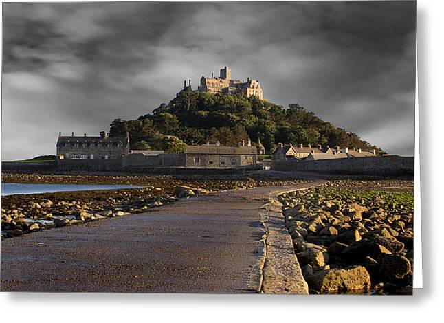 Saint Michael's Mount Greeting Card by Martin Newman