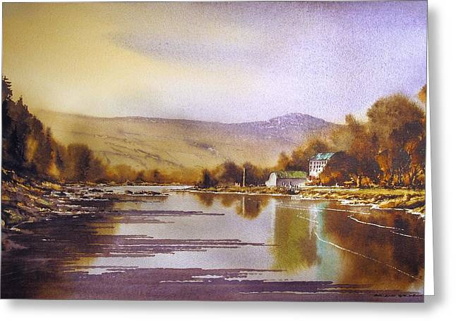 River View Greeting Cards - Saint Mullins Revisited Greeting Card by Roland Byrne