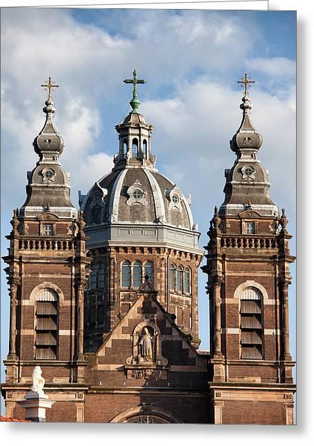 Nicholas Greeting Cards - Saint Nicholas Church in Amsterdam Greeting Card by Artur Bogacki