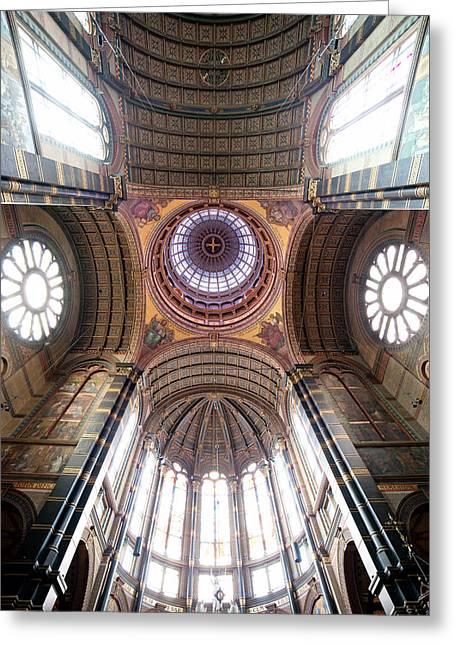 Cupola Greeting Cards - Saint Nicholas Church Interior in Amsterdam Greeting Card by Artur Bogacki