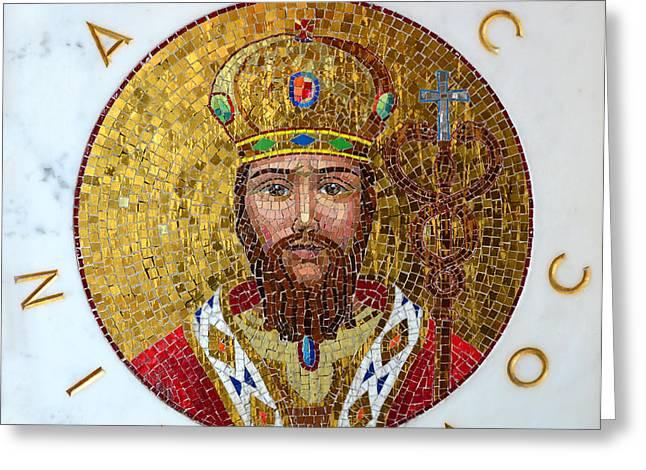 Saint Nicholas Greeting Cards - Saint Nicholas  Greeting Card by David Lee Thompson