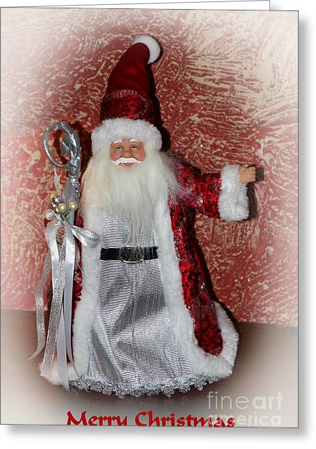 Old Saint Nick Greeting Cards - Saint Nick Merry Christmas Greeting Card by Al Bourassa