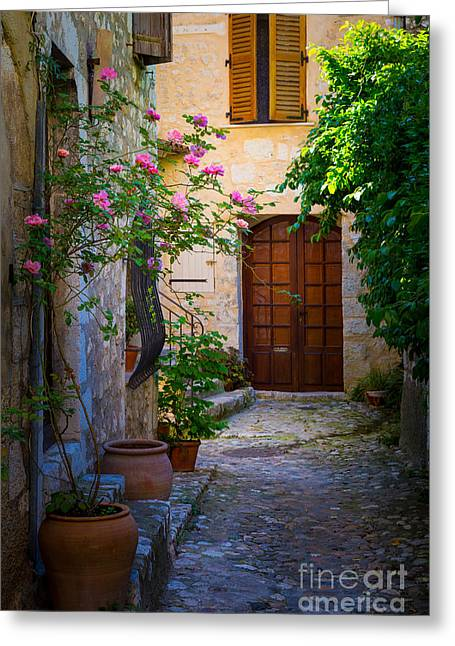 Vence Greeting Cards - Saint Paul Alley Greeting Card by Inge Johnsson