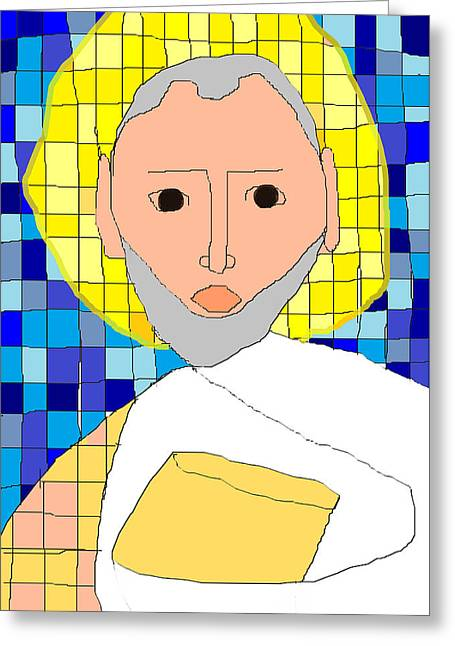 Orthodox Drawings Greeting Cards - Saint Paul Greeting Card by Anita Dale Livaditis
