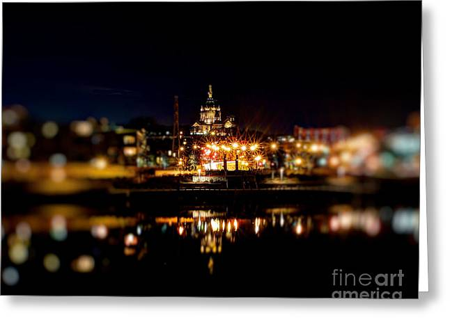 Exposure Framed Prints Greeting Cards - Saint Paul Cathedral at Night Greeting Card by Jimmy Ostgard