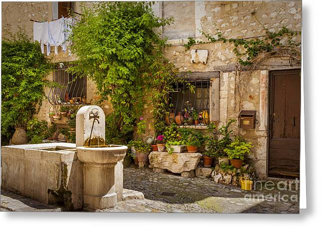 Best Sellers -  - Provence Village Greeting Cards - Saint Paul de Vence Greeting Card by Brian Jannsen