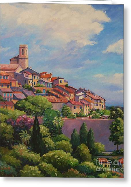 Antibes Greeting Cards - Saint Paul de Vence  Detail Greeting Card by John Clark