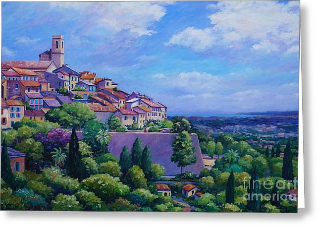 Antibes Greeting Cards - Saint Paul de Vence Greeting Card by John Clark