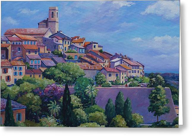 Antibes Greeting Cards - Saint Paul de Vence Square Greeting Card by John Clark