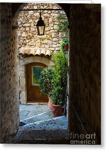 Vence Greeting Cards - Saint Paul Passageway Greeting Card by Inge Johnsson