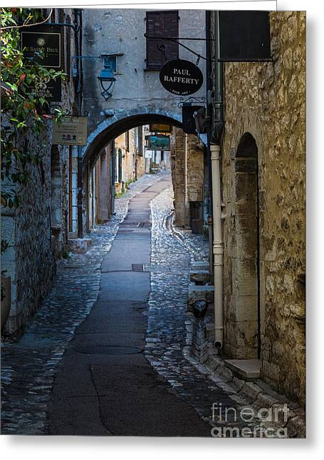 French Door Greeting Cards - Saint Paul Rue Grande Greeting Card by Inge Johnsson