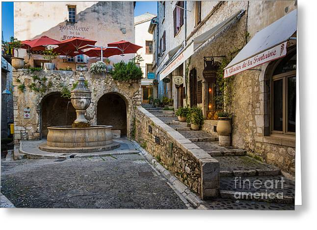 Vence Greeting Cards - Saint Paul Square Greeting Card by Inge Johnsson