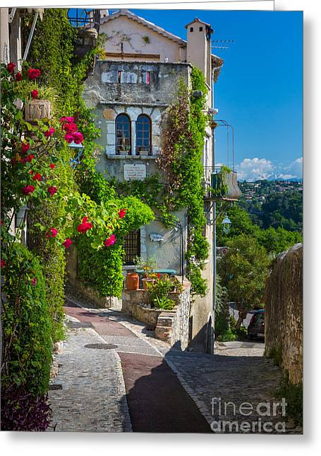 Cobblestone Greeting Cards - Saint Paul View Greeting Card by Inge Johnsson