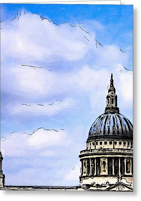 Saint Christopher Photographs Greeting Cards - Saint Pauls Cathedral Dome Greeting Card by Mark Tisdale