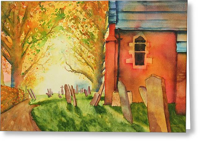 New England Village Greeting Cards - Saint Peters Bramshaw Greeting Card by Melanie Harman