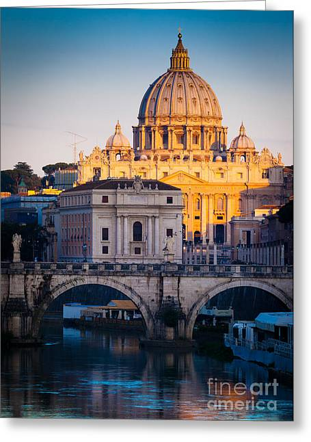 Saint Peter's Dawn Greeting Card by Inge Johnsson