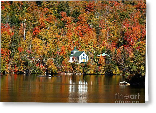 """adirondack Park"" Greeting Cards - Saint Peters On the Lake Adirondacks New York Greeting Card by Diane E Berry"