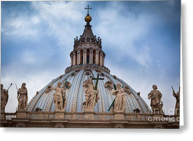 Jesus Christ Icon Greeting Cards - Saint Peters Roof Greeting Card by Inge Johnsson