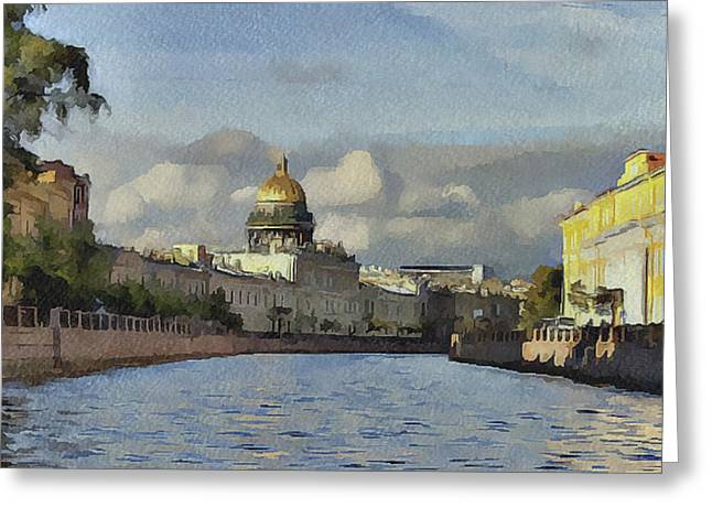 Old Town Digital Art Greeting Cards - Saint Petersburg 2 Greeting Card by Yury Malkov